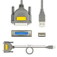 AXAGON ADP-1P25 USB2.0 - Parallel DB25F Printer Adapter, 1.5