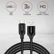 AXAGON BUCM-AM10SB,Kabel USB-C<>USB Type-A,Crni opruga