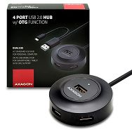 AXAGON HUE-X6GB 4x USB2.0 Hub 80cm Cable + Micro USB OTG Bla