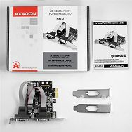 AXAGON PCEA-S2 PCI-Express Adapter 2x Serial Port+LP limić