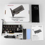 AXAGON PCEM2-DC PCI-E 3.0 x4-DUAL M.2 SSD(NVMe + SATA),sa hl