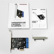 AXAGON PCEU-034VL PCIe Adapter 4x USB3.2 interni+ LP limić