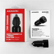 AXAGON PWC-QC5 car charger Smart 5V 2,4A + QC3.0, 30W, crni