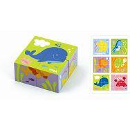 Drvene kocke puzzle - more