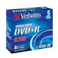 DVD+R MEDIJ VERBATIM 5PK DL J (43541)