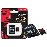 MEM SD MICRO 64GB UHS-I Class U3 + 1ad KIN