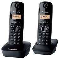 PANASONIC telefon bežični KX-TG1612FXH tamno sivi, 2 sluš.