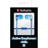 Aktivne slušalice s mikrofonom – plave (49111)