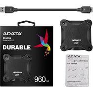 SSD EXT 960GB ASD600Q USB3.2 Gen1 Black AD