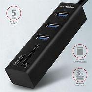 USB HUB AXAGON HMA-CR3A 3x USB-A + SD/microSD, 20cm