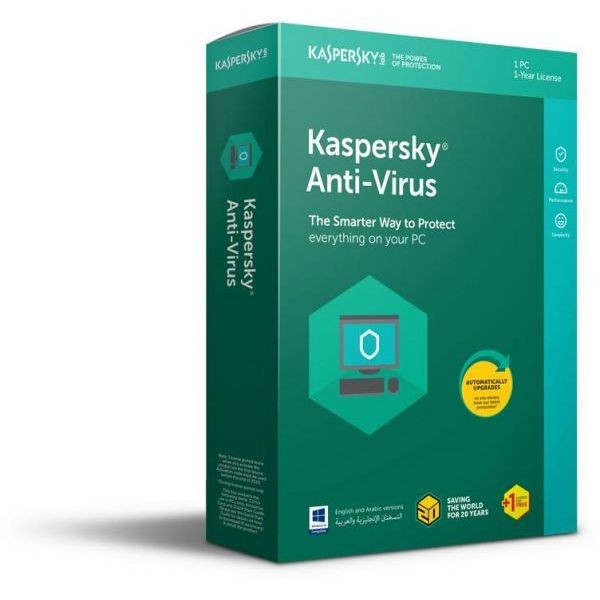 Kaspersky Anti-Virus 1 PC 1 Year